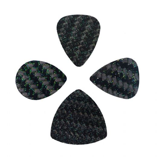 Glitter Tones Mixed Pack of 4 Guitar Picks